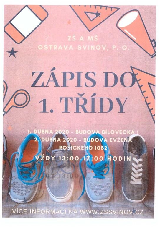 Zápis do 1. třídy ZŠ a MŠ Ostrava-Svinov